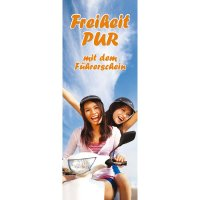 "Banner-Display ""Freiheit pur"""