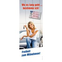 "Banner-Display  ""Wo es lang geht..."""